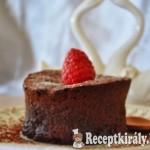 Csokis láva tortácska málnával - paleo 2