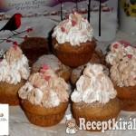 Diós csokis muffin