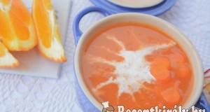 Gyömbéres narancsos sárgarépa krémleves – paleo