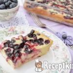 Hamis sajttorta erdei gyümölcsökkel