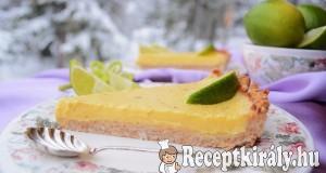 Juharszirupos lime pite – paleo