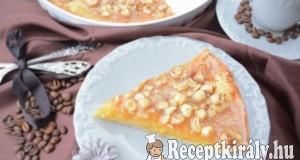 Narancsos marcipános pite karamellizált mogyoró réteggel