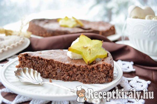 Sárgarépapürés pillekönnyű csokitorta - paleo