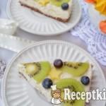 Sütés nélküli citromos sajttorta gyümölcsökkel - paleo 1