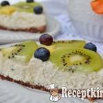 Sütés nélküli citromos sajttorta gyümölcsökkel - paleo 2