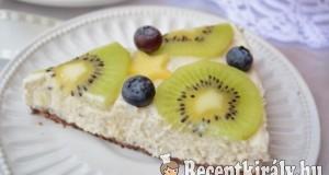 Sütés nélküli citromos sajttorta gyümölcsökkel – paleo