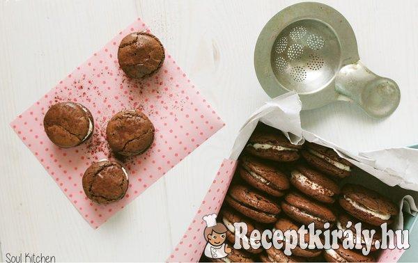 Töltött csokoládés kekszek