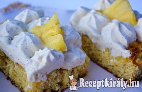 Ananászos kókuszos torta - paleo
