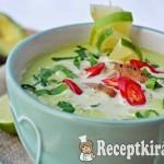 Avokádó leves - paleo