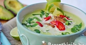 Avokádó leves – paleo