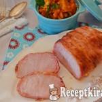 Bacon köntösben sült karaj indiai serpenyős karfiollal 1