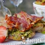 Csirkemell spenótos tojáskrémmel és szalonnával sütve - paleo 2