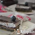 Csokis mákos krémes - paleo