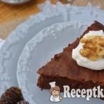 Diós almás csokitorta - paleo 2