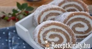 Gesztenyés kókusztekercs sütés nélkül – paleo