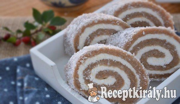 Gesztenyés kókusztekercs sütés nélkül - paleo
