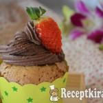 Gesztenyés muffin csokis krémmel - paleo 1