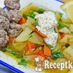 Karalábé leves tárkonyos húsgombóccal - paleo 1