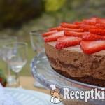 Kávés csokihabos torta eperrel - paleo 2
