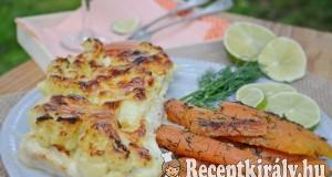 Krémes karfiollal rakott csirkemell – paleo