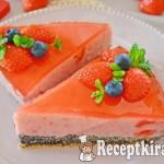 Mákos epres torta - paleo 2