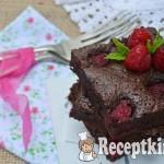 Málnás brownie - paleo 1