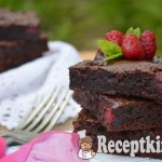 Málnás brownie - paleo 2