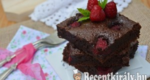 Málnás brownie – paleo