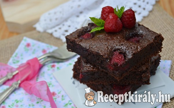 Málnás brownie - paleo