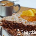 Narancsos csokis diós habcsóktorta - paleo 1