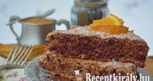 Narancsos csokis diós habcsóktorta – paleo