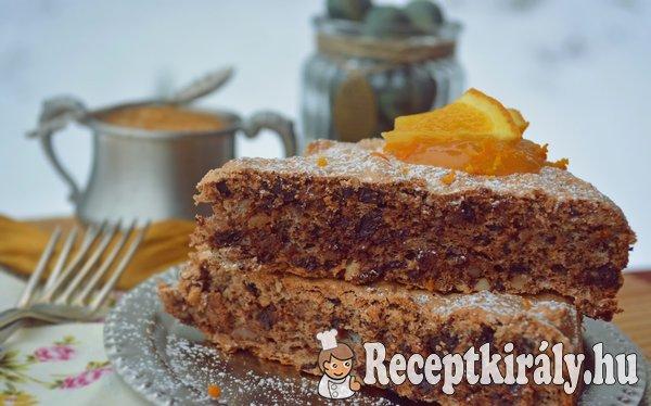 Narancsos csokis diós habcsóktorta - paleo