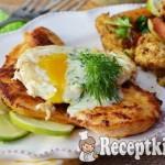 Omlós csirkemell szelet tükörtojással és kaporszósszal - paleo 1