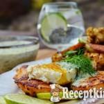 Omlós csirkemell szelet tükörtojással és kaporszósszal - paleo 2