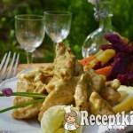 Pesztókrémes csirkemell, fokhagymás pirított édesburgonyával - paleo 1