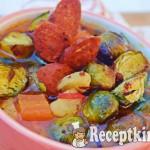 Sült kelbimbó leves édesburgonyával és kolbásszal - paleo 2