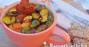 Sült kelbimbó leves édesburgonyával és kolbásszal – paleo