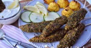 Zöldfűszeres bundás csirke rudacska és hercegnő karfiol – paleo