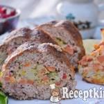 Zöldséges fasírt szelet - paleo 1