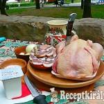Fehérboros csirke bográcsban 1