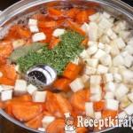 Tárkonyos pulykaaprólék leves 2