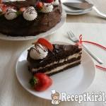 Csokoládétorta tejszínes túrókrémmel 3