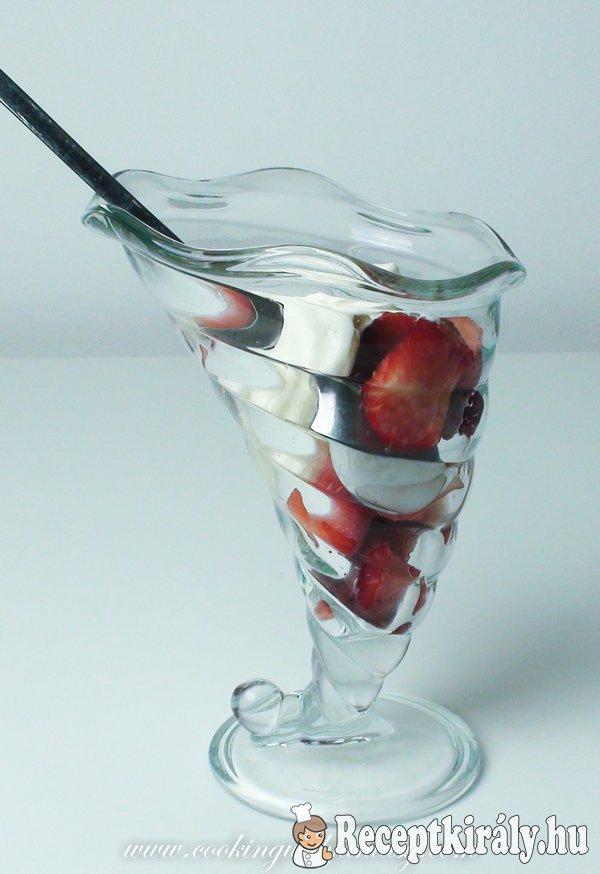 Epres mascarponés pohárdesszert