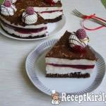 Málnás Túró Rudi torta 2
