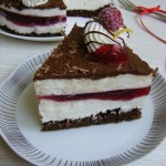 Málnás Túró Rudi torta 3
