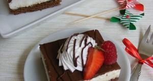 Csokoládés-túrókrémes kocka