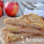 Fordított diós alma torta tojás nélkül 1