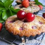 Joghurtos mini piték meggyel, cseresznyével és eperrel 4