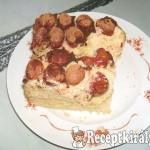 Kukoricadarás cseresznyés süti