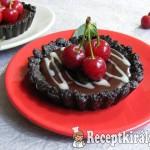 Meggyes-csokoládés mini pite, sütés nélkül 1